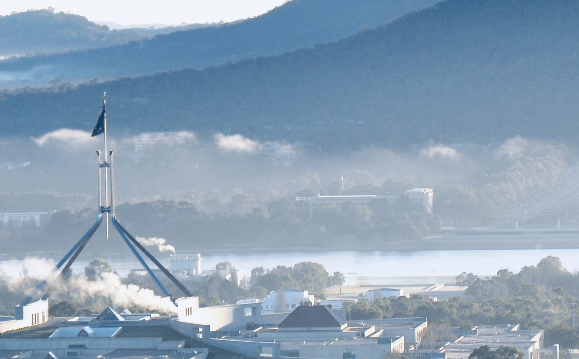 Image shows Parliament House in Canberra