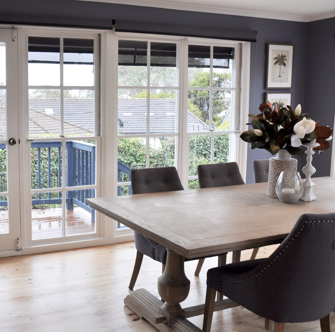Canberra Real Estate Market Update July 2019 Feature Image showing a table in front of a French Door